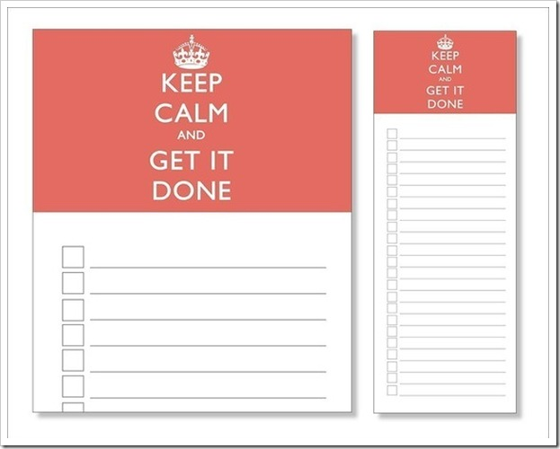 Keep Calm and Get It Done Notepad