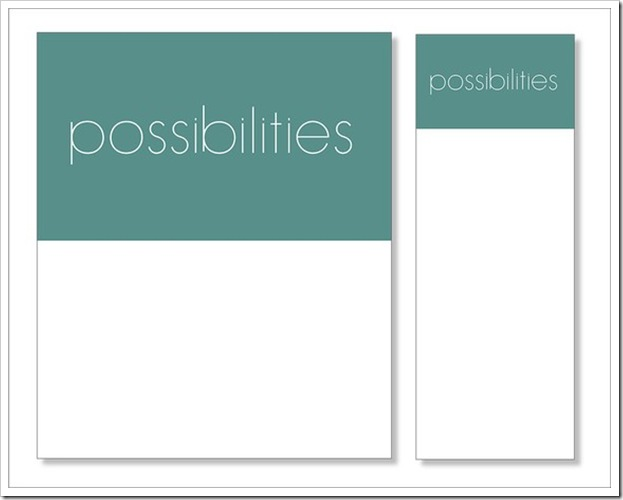 Possibilities Notepad