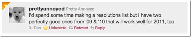 Pretty Annoyed Tweet