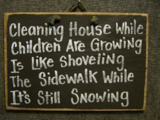 Cleaning House Sign