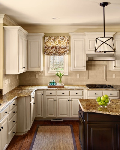 Traci Zeller Designs Foxcroft Kitchen Painted Cabinets