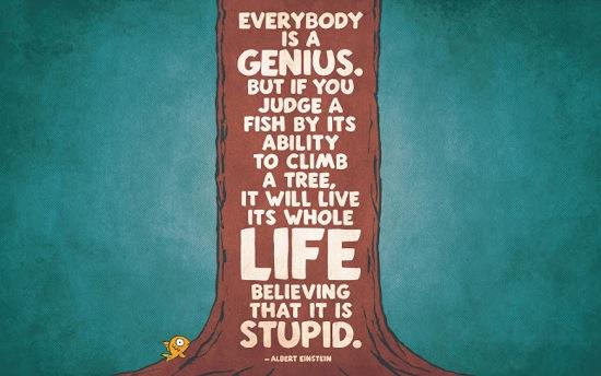 Albert Einstein Everbody is a Genius