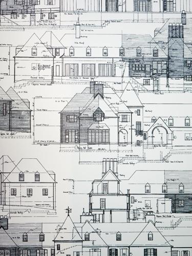 Sarah & Ruby Design Studio Custom Architectural Toile Adamsleigh