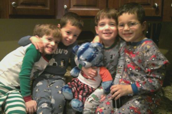 Cousins in PJs