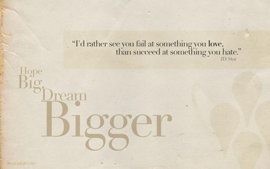 Dream Big Wallpaper by Dexter 19
