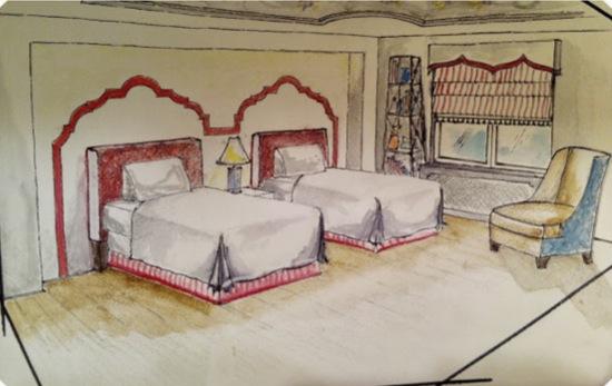 RMH Room Sketch Mehditash Design