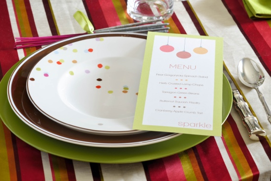 Traci Zeller Holiday Place Setting