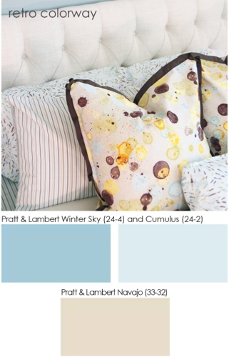Traci Zeller Textiles Retro Colorway Paint Options