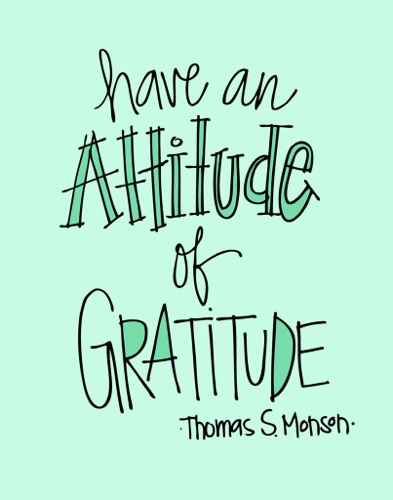Attitude of Gratitude Art Print by Doodlidos