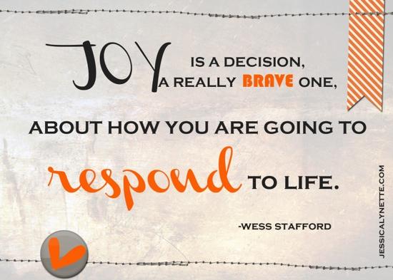 Joy Is A Decision