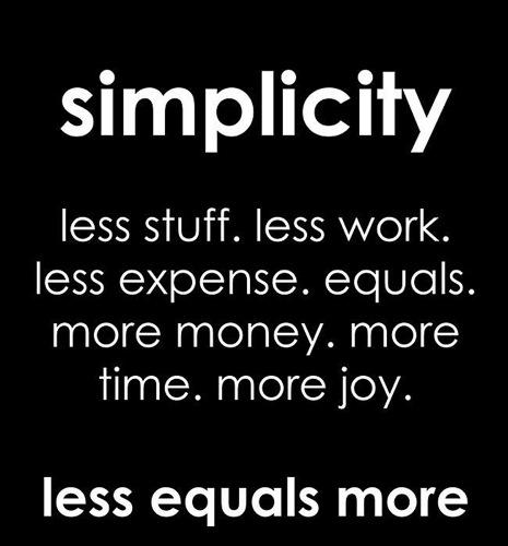 Simplicity Equals Joy