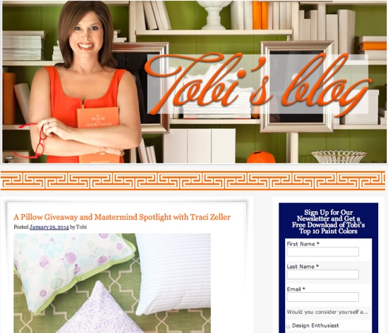 Tobi Fairley Blog Profile and Giveaway