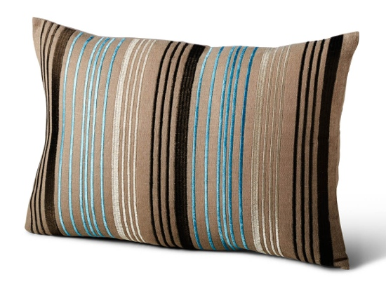 Traci Zeller Pillow Multi Stripe in Aqua