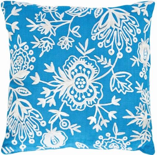 Dash-and-Albert-Rugs-Fresh-American-Floral-Crewel-Polypropylene-Pillow