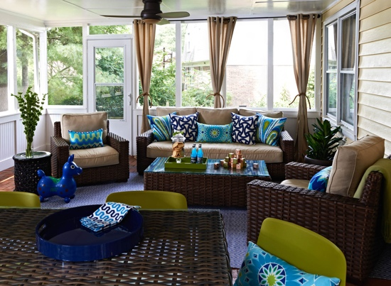 Traci Zeller Designs Porch Sitting and Dining Area