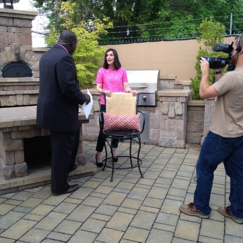 Traci Zeller on WCCB News Rising Stylish Outdoor Living