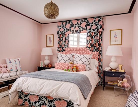 Traci Zeller Designs Coral Navy Bedroom Girl