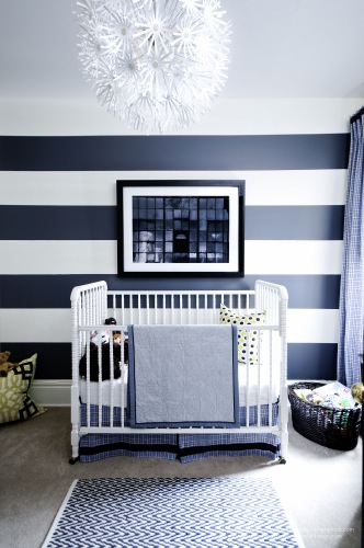 Meredith Heron Design Navy White Nursery