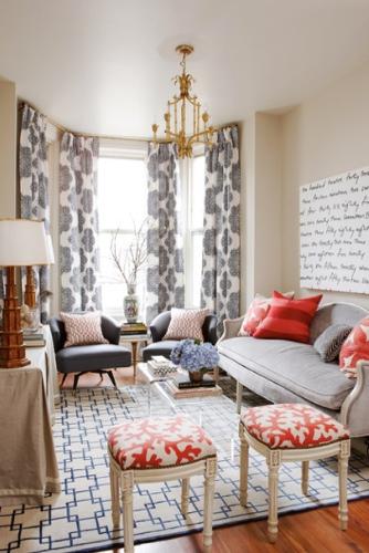Meredith Heron Design Spruce Street Living Room