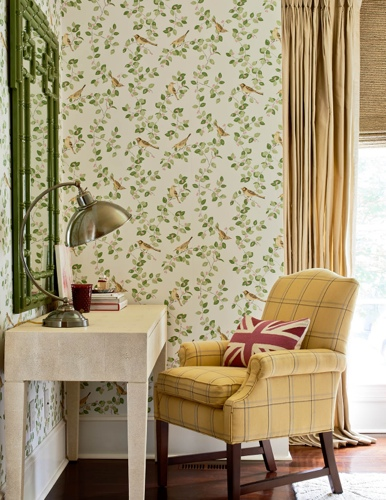Traci Zeller for Laura Ashley and Domino Desk Vignette