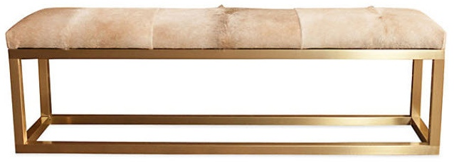 Taylor Burke Home Kelly Brass Bench