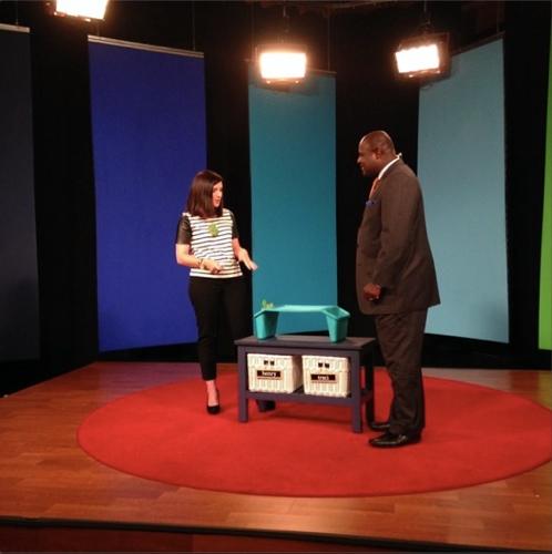 Traci Zeller on WCCB News Rising Sharing Back to School Organization
