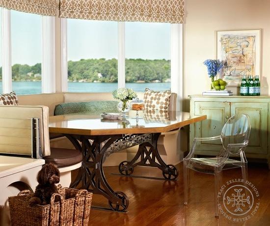 Traci Zeller Designs Lakefront Breakfast Room