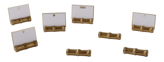 Maitland Smith Brass Place Card Holders
