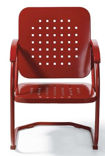 Grandin Road Retro Squares Spring Chair