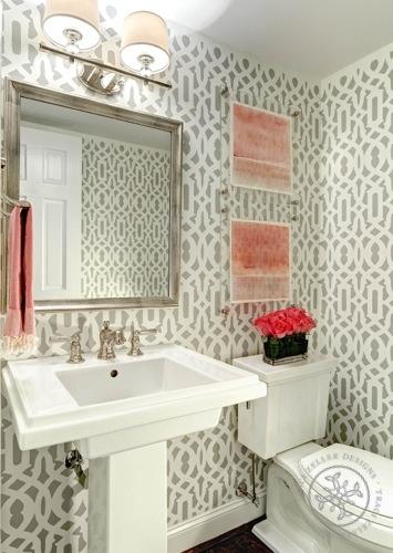 Traci Zeller Designs Powder Room Charlotte NC