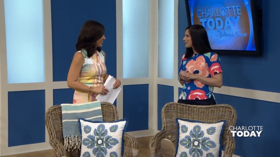 Traci Zeller on Charlotte Today Stylish Outdoor Living