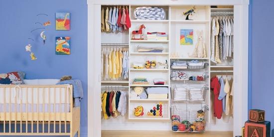 California Closets Infant Closet System