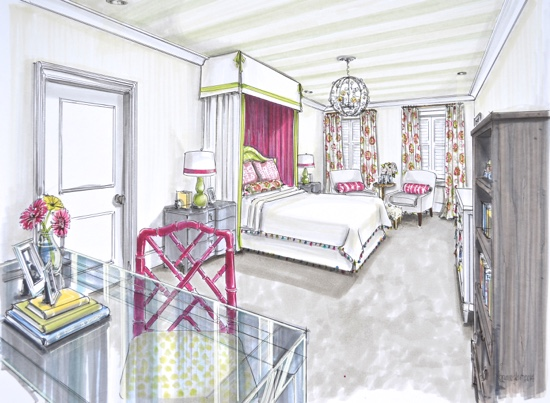 Traci Zeller Designs Bedroom Rendering