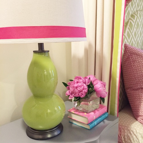 Traci Zeller Designs Girl Bedroom Green Lamps
