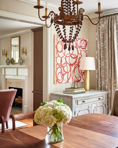 Traci Zeller Designs Traditional Myers Park Dining Room Double Day Design