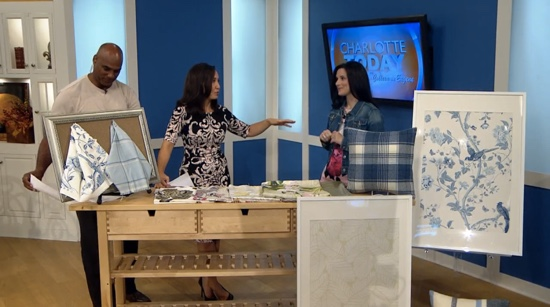 Traci Zeller on Charlotte Today Floral Patterns Segment