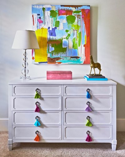 Traci Zeller Designs Girl's Bedroom Dresser with Tassels