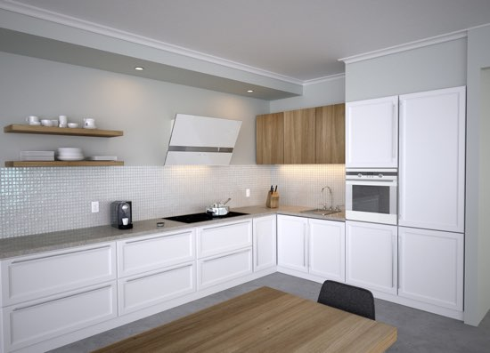 Zephyr Kitchen Wave White