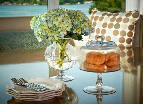 Traci Zeller Designs Breakfast Room Hydrangea Arrangement