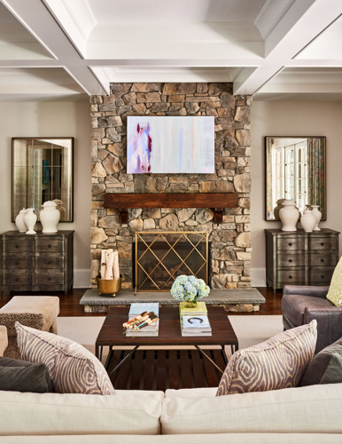 Traci Zeller Interiors Cheval Living Room