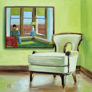 Kimberly Applegate Painting BB chair with Edward Hopper.jpg