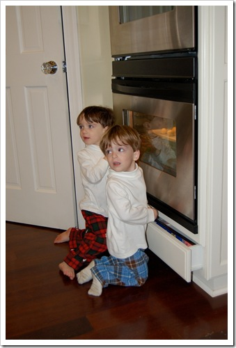 Boys Watching Santa's Cookie
