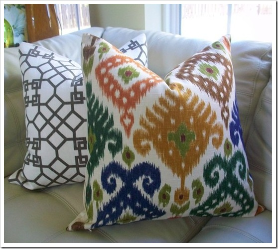 Elegant Touch Duralee Ikat Pillow