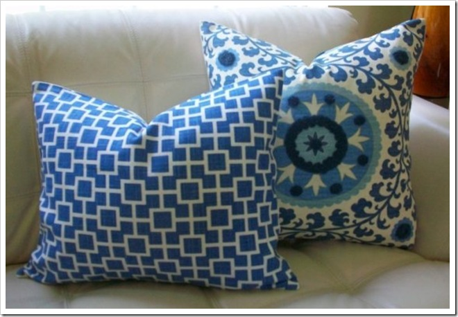 Elegant Touch Blue Pillows