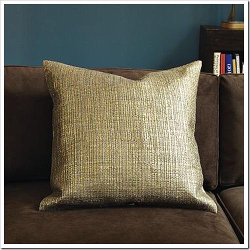 West Elm Gilded Grasscloth Pillow