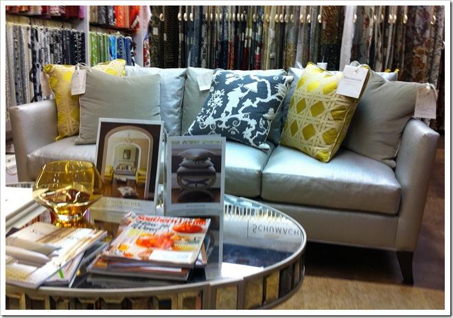 Karen Saks sofa with Kravet Shimmer